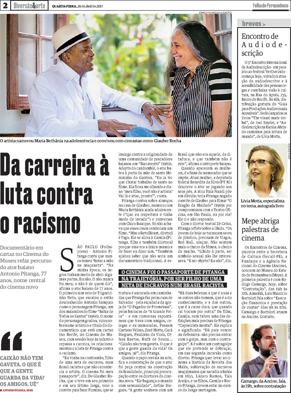 2017.04.26_Folha de Pernambuco_Encontro de Audiodescrição